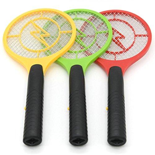 Coloré(TM Multi-Insectes Moustique Tueur électrique Tennis Raquette de Poche Poche Insecte Mouche Bug Wasp Swatter (C)