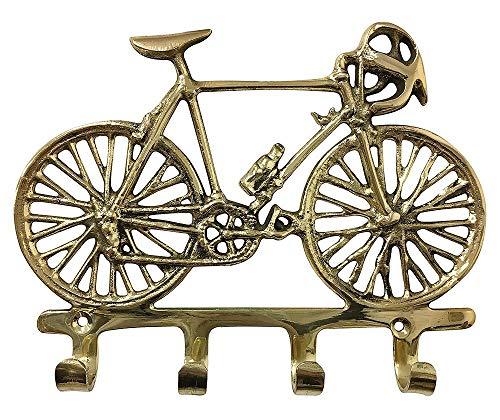 zeitzone Wandgarderobe Rennrad Garderobe Fahrrad Messing Antik-Stil