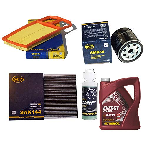 Inspektionspaket SCT Aktivkohlefilter Luftfilter Ölfilter Motoröl Geschenk