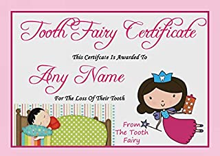 Pink Personalized Tooth Fairy Certificate