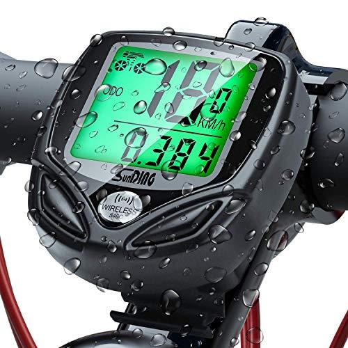UNEEDE Fahrradcomputer 16 Leistungsstarke Funktionen Tacho Fahrrad Fahrradtacho Grünes Nachtlicht LED Wasserdicht Radcomputer Präzise Geschwindigkeitsmessung Tachometer