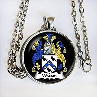 YOUR FAMILY CREST as a Custom Pendant Necklace -Unique Gift or Keepsake - HM
