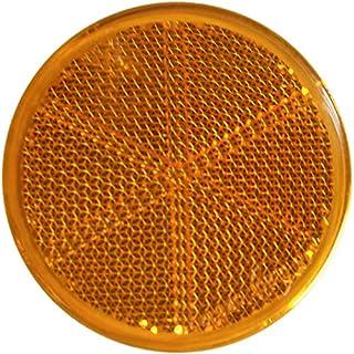 mb m 904314 10er Set Rückstrahler, Seitenstrahler, Reflektor Rund 60mm gelb zum Kleben mit E Prüfzeichen für Anhänger Pritsche Links rechts Katzenauge orange …