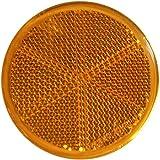 mb-m 904314 10er Set Rückstrahler, Seitenstrahler, Reflektor Rund 60mm gelb zum Kleben mit E-Prüfzeichen für Anhänger Pritsche Links rechts Katzenauge orange …