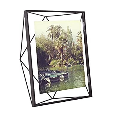Umbra Prisma 8 x 10 Picture Frame – Floating Wall or Desk Photo Display for Pictures, Art, Illustrations, Graphic Text & More, Metal, Black