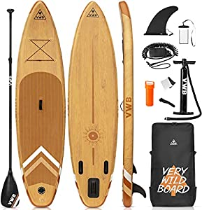 """EXCEEDING LENGTH -This is an inflatable stand-up surfboard perfect for people keeping stable and balance. At 11'×33""""×6"""", the wide deck and longer shape is a gift for surfer to open the door to nature, to enjoy, to take a risk, beyond self. Longer len..."""
