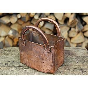 kleine Handtasche, Vase, handverarbeitetes Kupfer