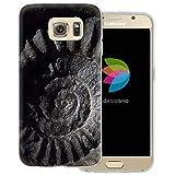 dessana Fossil durchsichtige Schutzhülle Handy Case Cover Tasche für Samsung Galaxy S6 Versteinerung