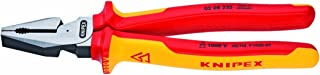 KNIPEX Tools - High Leverage Combination Pliers, 1000V Insulated (0208225US), 9 inches