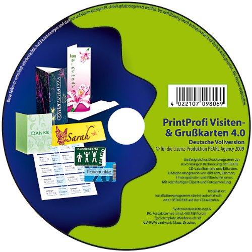 Puede profesional 4,0 de presión-software para saludos y tarjetas de visita