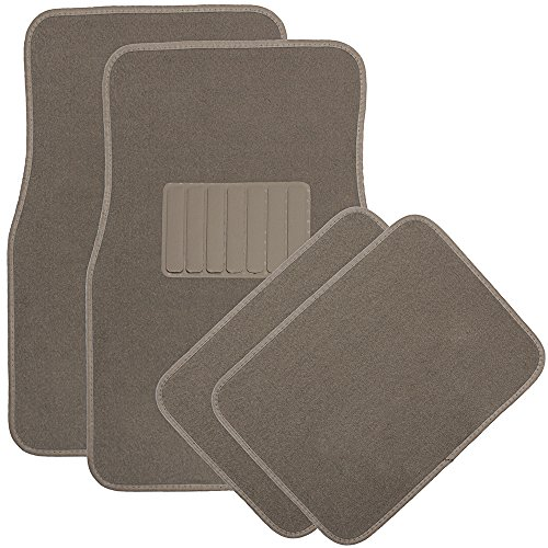 OxGord 4 Piece Luxe Carpet-Floor-Mats Set for Car - Rubber-Lined All-Weather...