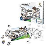 Puzle Monta y Colorea del Real Madrid CF- Rompecabezas (para Edades Superiores a 5 años) (Producto Oficial Licenciado)