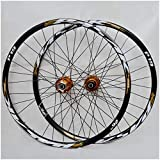 26 Inch 27.5' 29 er MTB Bike Wheelset Aluminum Alloy Disc Brake Mountain Cycling Wheels for 7/8/9/10/11 Speed (Color : Gold, Size : 27.5INCH)