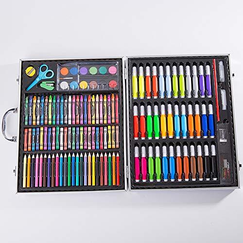 NIUPAN 150 school aquarel pen schilderij aluminium doos krijt schilderij set kleurpotlood student kinderen set