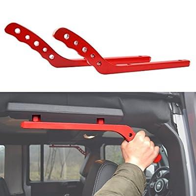 NEW Aluminum Grab Handle for Jeep Wrangler JK 07-17 2/4 Door - Pair (Black)
