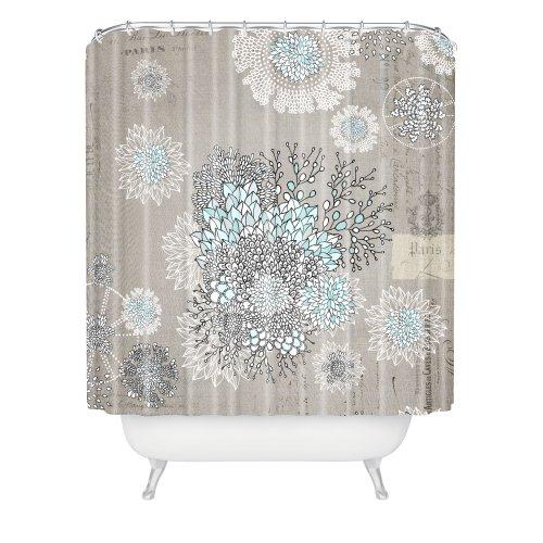 Deny Designs 12883-shocur Iveta Abolina French Blue Shower Curtain, 69' x 72'