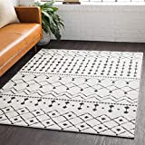 Ringwood 2' x 3' Moroccan Farmhouse Shag - Black, Charcoal, White Bohemian Area Rug - Rectangle - Polypropylene and Polyester Blend