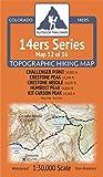 Colorado 14ers Maps Series 12 of 16 - Challenger, Crestone, Crestone Needle, Humbolt, Kit Carson