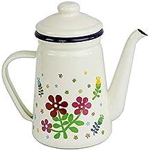 YINGGEXU Zestaw dzbanków do herbaty, zestaw do herbaty z emaliowanego kociołka, dzbanki do herbaty, 1 litr, gruby, emaliow...