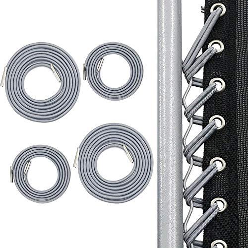 4 Stück Schwarzes elastisches Bungee-Seil Extra Bungy-Schnur für Klappstuhl Zero Gravity Chair Recliner Schnürsenkel Ersatzteil Recliner Lounge
