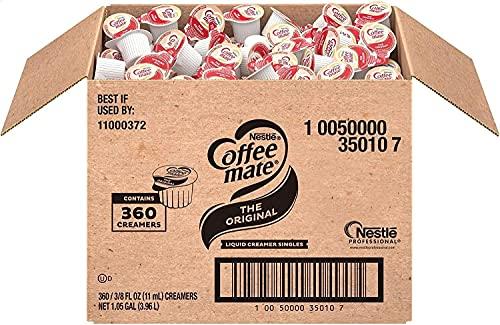 Nestle Coffee mate Coffee Creamer, Original, Liquid Creamer Singles, Non Dairy, No Refrigeration, Box of 360
