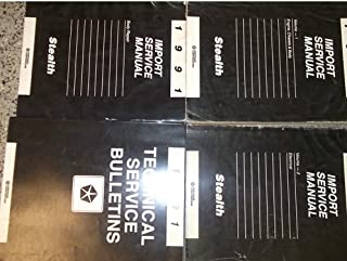1991 Dodge Stealth Service Repair Shop Manual Set OEM (3 volume set, and the technical service bulletins manual.)