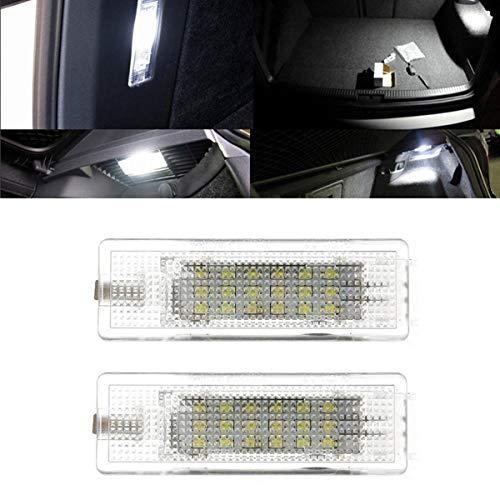 YUGUIYUN Auto 18 LED Kofferraumbeleuchtung Fußraumbeleuchtung Türeinstiegsleuchten Bright Weiß Lampen Leuchtmittel Innenraumbeleuchtung für Golf Mk4 Mk5 Mk6 Mk7 Plus Jetta Passat CC (2pcs)