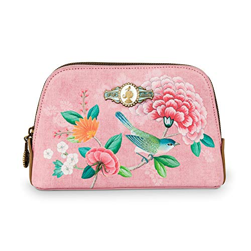 Cosmetic Bag Triangle Small Floral Pink