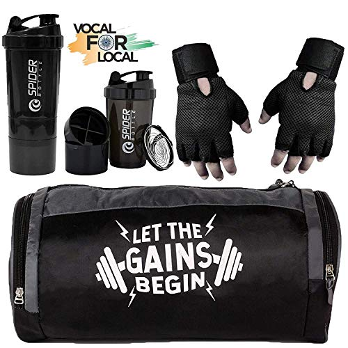 5 O' CLOCK SPORTS Combo of Gym Bag with Shoe Compartment