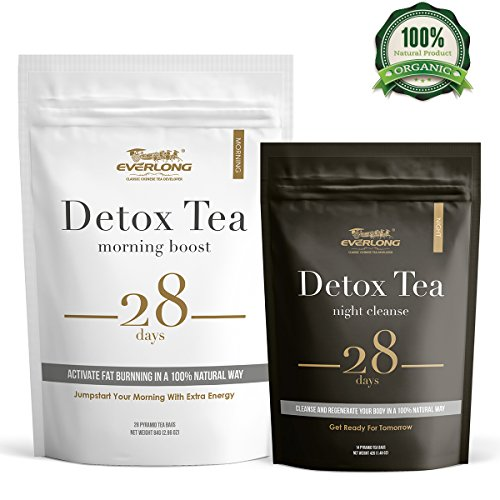 Detox Tea 28 Day Ultimate Teatox - Burn Fat and Boost Your Energy, Colon Cleanse and Flat Belly, Activate Immune System and Accelerate Healthful...