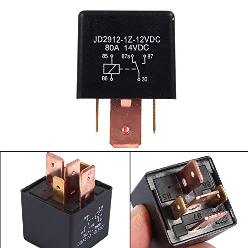 Yosoo 12V 80A AMP Relay 5-Pin SPDT Split Charge Automotive Relay Car Vehicle Van Boat Relay