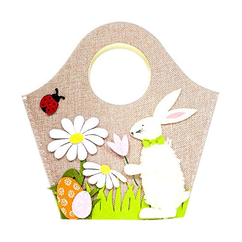 Baimao Scaffale Stoccaggio Portatile Pasqua Coniglio Poliestere Scaffali per dell Archiviazione Domestica Giocattoli Necessit¨¤ Quotidiane