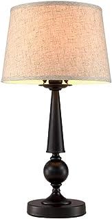 HtapsG Lampe de Table Lampe American Iron Table Lampe Lampe de Table Moderne Minimaliste Chambre à Coucher Lampe de Nuit S...