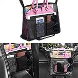 Car Net Pocket Handbag Holder Between Seats, Car Organizer Upgrade Handbag Purse Holder For Car, Large Capacity Car Net Bag Barrier of Back Seat Pet Kids Helps To Safe Driving