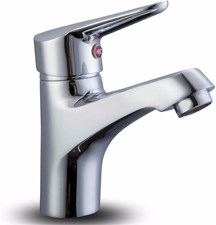 LIANTIAN Hot and Cold Copper Single Handle Single Hole Double Control Basin Faucet Kitchen Bathroom Basin Faucet Bathroom Sink Taps