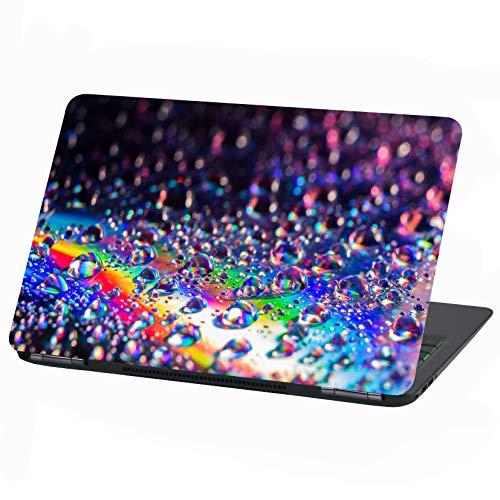 Laptop Folie Cover Abstrakt Klebefolie Notebook Aufkleber Schutzhülle selbstklebend Vinyl Skin Sticker (15 Zoll, LP20 Tropfen)