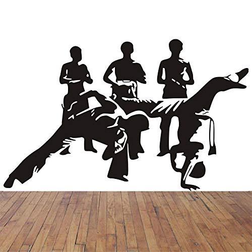 Vcnhln Calcomanía de Vinilo para Pared, Adhesivo para Pared, Mural, Adhesivo para Pared, Artista, calcomanía para el hogar, Deportes, Artes Marciales, Papel Mural 56x91cm
