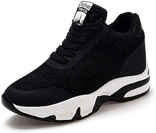 9327c7b51ddaf6 AONEGOLD Baskets Compensées Femmes Chaussure de Sport Running Gym Fitness  Tennis Sneakers Basses Compensées 8 cm