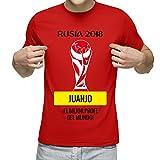 Camiseta Personalizada con Nombre 'Rusia 2018' para animar a la Selección (Rojo)