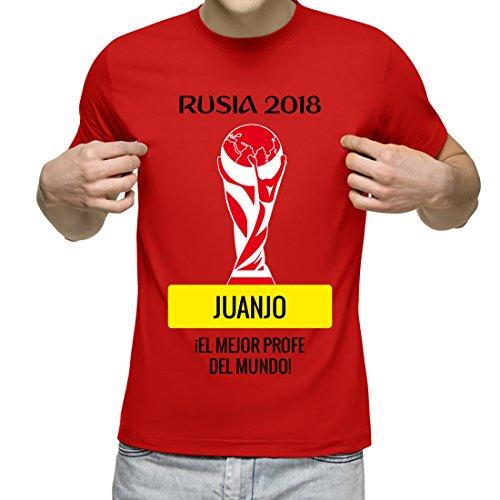 Camiseta Personalizada con Nombre para animar a la Roja. Regalo Personalizado para los Amantes del fútbol