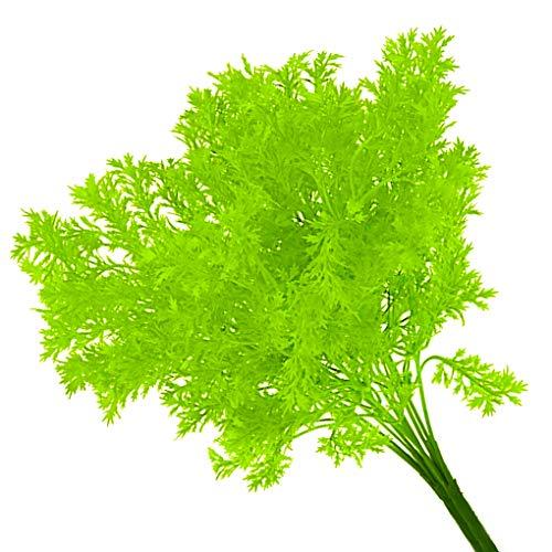 Rekkles Künstliche Plastikblumen-Blätter Zweig Naturgetreue Petersilie Blumenhauptdekoration Foto Props - 4