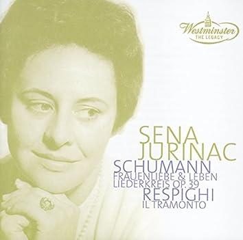 Schumann: Frauenliebe; Liederkreis / Respighi: Il tramonto