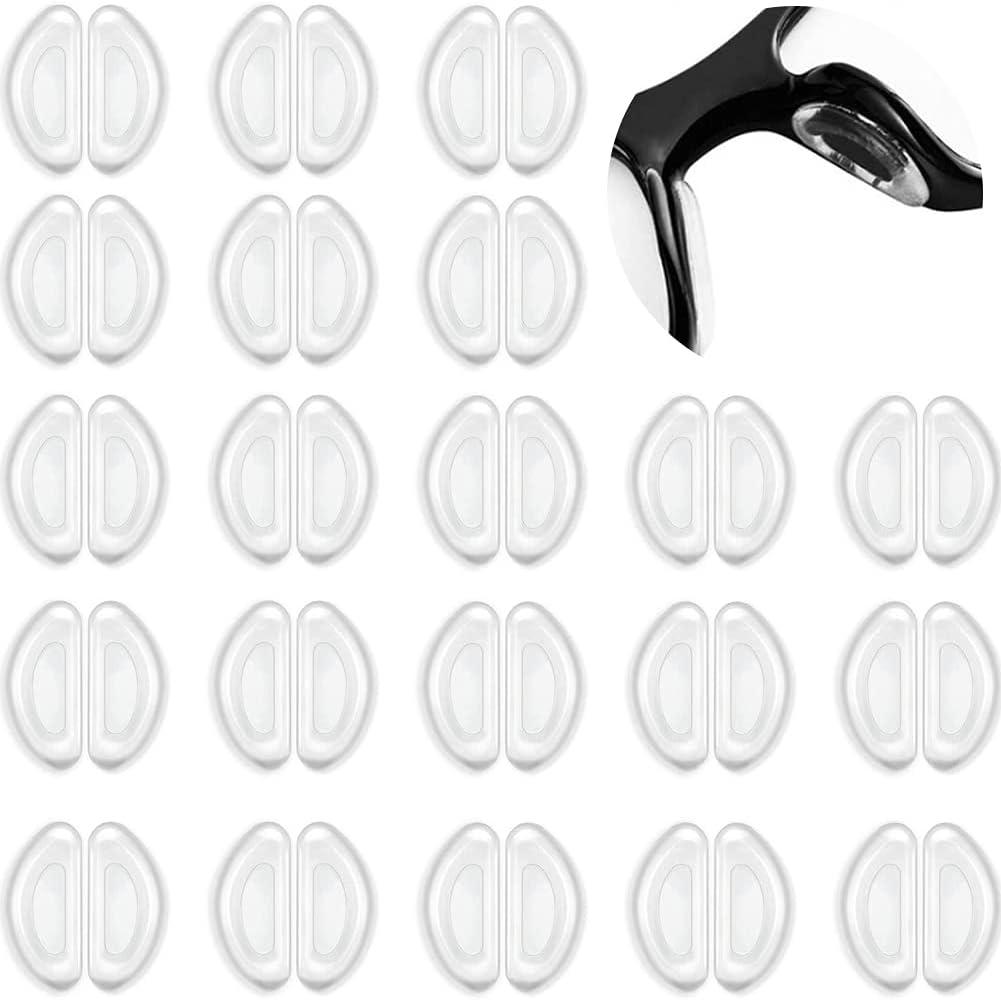 30 Pares de Almohadillas de Nariz para Gafas Almohadillas Antideslizantes para Gafas Almohadillas Nasales Protector de Nariz de Gafas Vasos Adhesivos, para Gafas Gafas de Sol