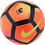Nike Pitch Premier League Fluorescent Orange Black Football Size 5 Ball Official