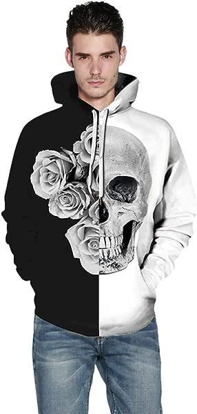 Molyveva Boys Girls 3D Skull Printing Hoodies Sweatshirt Pullover Hooded Blouse