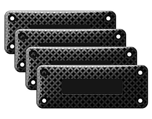 DD Gun Magnet Mount,HQ Rubber Coated 37lbs Rated, Magnetic Gun Holster for Vehicle and Indoor, Concealed for Handguns,Airguns,Rifle and Pistol in Car Wall Bedside and Office(4 Pack)