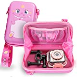 Leayjeen Kids Camera Case Compatible with Agoigo Kids Waterproof Camera Toys for 3-12 Year Old Boys Girls Christmas Birthday Gifts(Case only) (Pink)