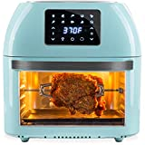 Best Choice Products 16.9qt 1800W 10-in-1 XXXL Family Size Air Fryer Countertop Oven, Rotisserie, Dehydrator w/Digital LED Display, 12 Accessories, 9 Recipes - Blue