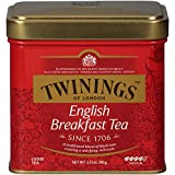 Twinings English Breakfast Tea Tins, 3.5 Ounce (Pack of 6)