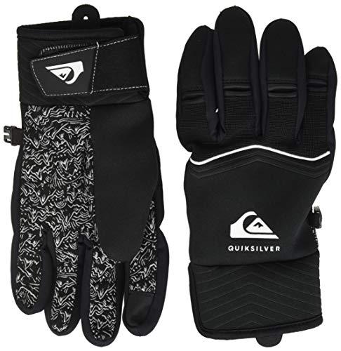 Quiksilver Method-Gants de Ski/Snowboard pour Garçon 8-16 Ans, Black, FR : M (Taille Fabricant : M)